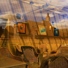 Outside reflections by Mandy Hedley - Buildings & Architecture Other Interior ( conservatory, window, chairs, hotel, reflectons )