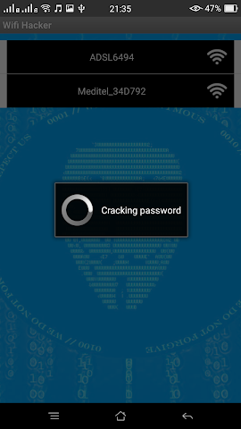 android WiFi Password Hacker Prank Fre Screenshot 2