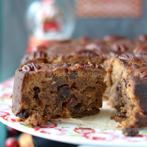 Fruit Cake with Rum | Rum soaked Christmas fruit cake