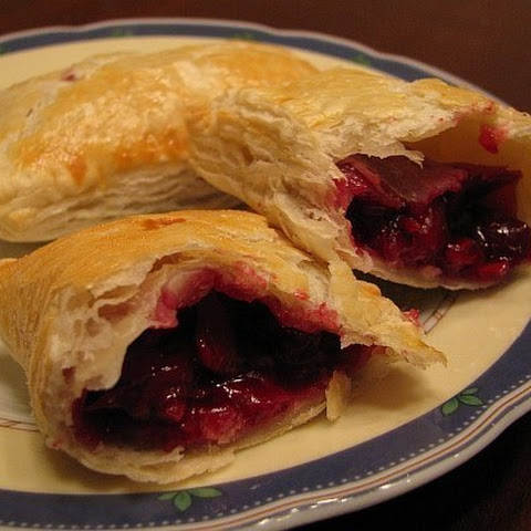 Puff Pastry With Cherry Filling