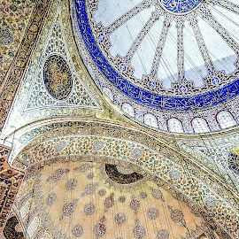 Inside the Blue Mosque by Richard Michael Lingo - Buildings & Architecture Architectural Detail ( istanbul, blue mosque, detail, building, architecture )