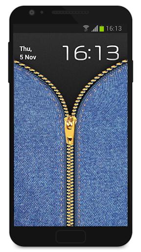 Zipper Lock Screen Jeans screenshot 2