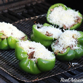 Philly Cheesesteak Stuffed Green Peppers