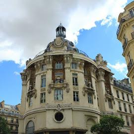 Paris Crossroad by Laura Henderson - City,  Street & Park  Street Scenes