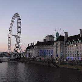 London eye by Elizabeth O - Buildings & Architecture Architectural Detail