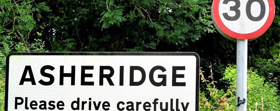 Asheridge road sign