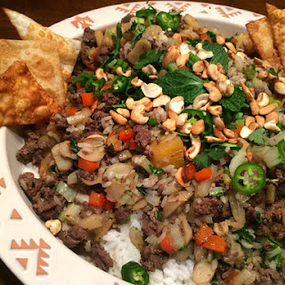 Goose Pineapple Stir-Fry with Mint and Roasted Cashews