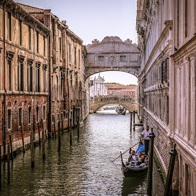 Venice canal by Natalia Photography - City,  Street & Park  Historic Districts ( venezia, building, old, gondola, gondolier, venice, architecture, historical, italy )