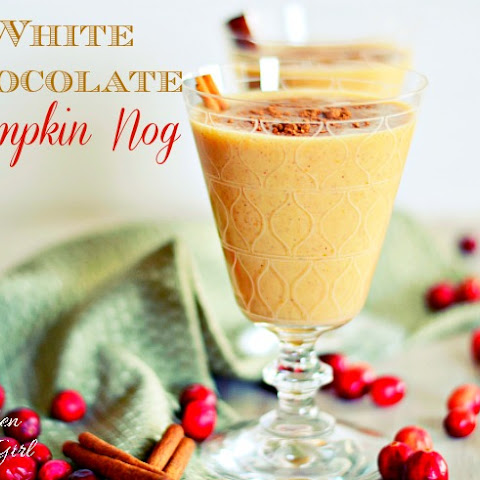 {Lightened Up} White Chocolate Pumpkin Nog