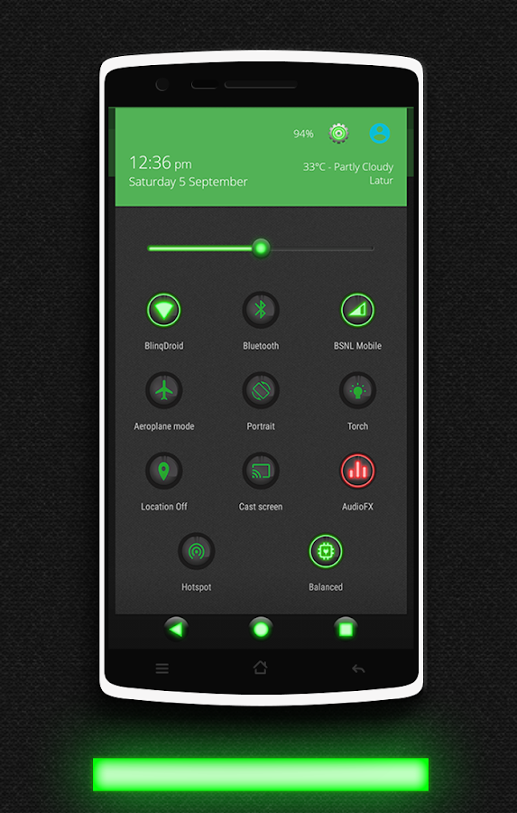 Glow Green CM13 CM12.x Theme Screenshot 1