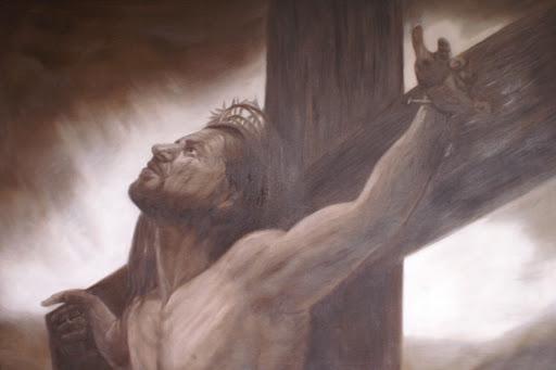 Eli, Eli, lema sabachtani? (Heer, O Heer, Waarom heeft U mij verlaten?) - Olieverf op Canvas - 60 x 90 cm