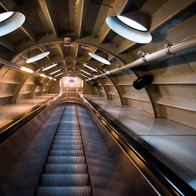 Atomium Stairs 2 by Mike Tricker - Buildings & Architecture Other Interior ( stairs atomium,  )