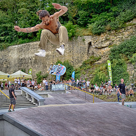 Flying Skateboard by Marco Bertamé - Sports & Fitness Skateboarding ( flying, skateboasrding, skateboard, jump )