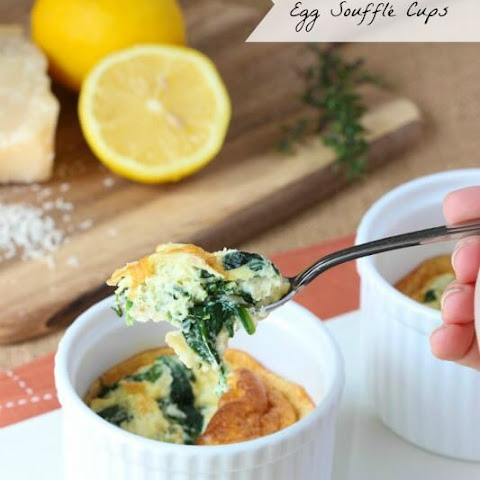 Spinach and Parmesan Egg Soufflé Cups