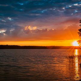 Mazury by Paweł Mielko - Landscapes Travel ( sunset, landscaping, landscape photography, mazury, lake, sunrise, landscapes, landscpae, poland )