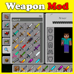 Weapon Case mod for MCPE For PC / Windows 7/8/10 / Mac – Free Download