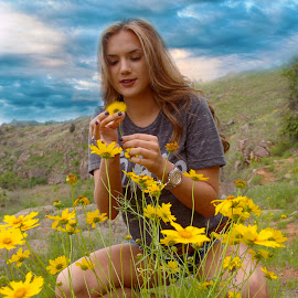Moody Wildflowers by Kathy Suttles - People Street & Candids
