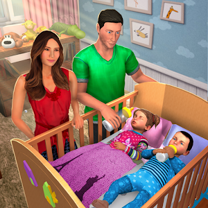 Virtual Mother Baby Twins Family Simulator Game For PC (Windows And Mac)