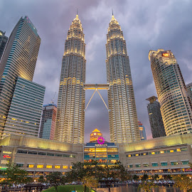 KLCC by Shahrin Ayob - Buildings & Architecture Office Buildings & Hotels ( klcc, building, suria, sunset, petronas, cloudy, shopping, mall )