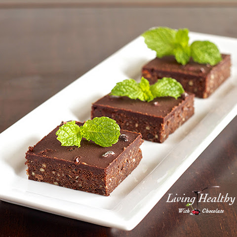 No Bake Fresh Mint Dark Chocolate Brownies