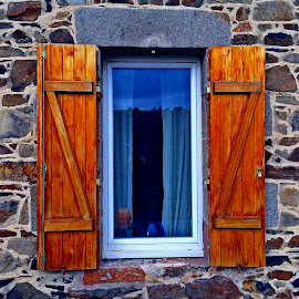 Window by Dobrin Anca - Buildings & Architecture Architectural Detail ( warm, wood, window, sea, brittany )