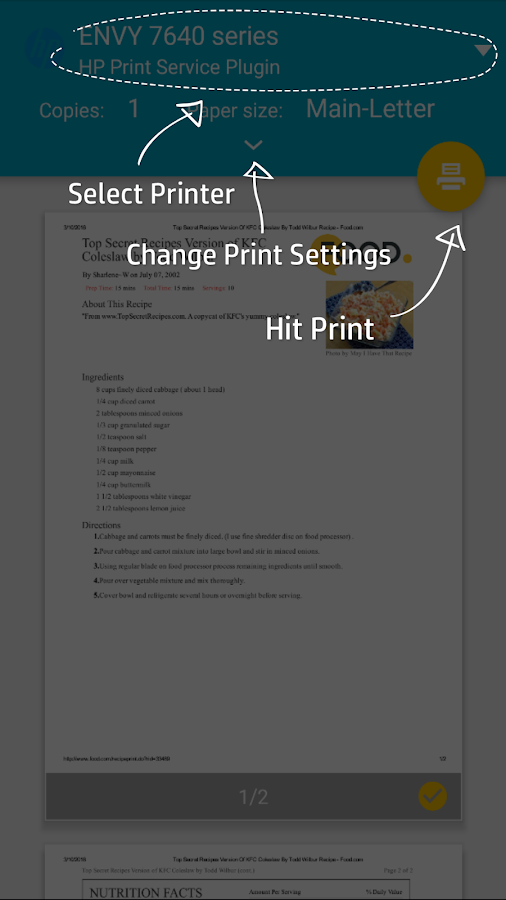 Hp Print Service Plugin Android Apps On Google Play