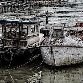 by Ralf  Harimau - Transportation Boats ( fischerboote, fishing boats, langkawi, kuah )