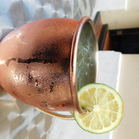Margarita in cute copper cup by TONY LOPEZ - Food & Drink Alcohol & Drinks ( coppper, dining, margarita, cute, reflective,  )