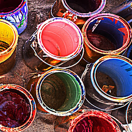 Paint Dried by Richard Michael Lingo - Artistic Objects Industrial Objects ( cans, paint, industrial objects, artistic objects, salvage )