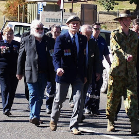 Anzac Day Parade by Sarah Harding - Novices Only Portraits & People ( parade, community, novices only, celebration, people )