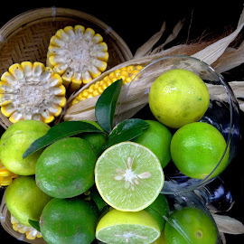 Corn-lime combo by Asif Bora - Food & Drink Fruits & Vegetables