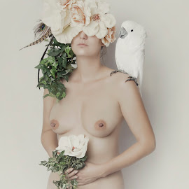 Mistery by Carola Kayen-mouthaan - Nudes & Boudoir Artistic Nude ( model, woman, fine art, flowers, portrait )