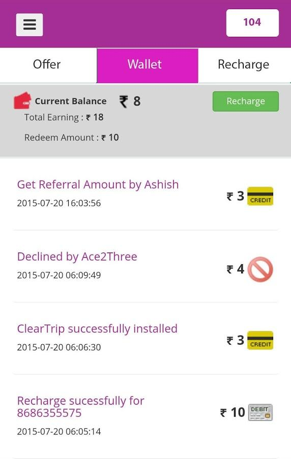 FreeCharge Screenshot 2