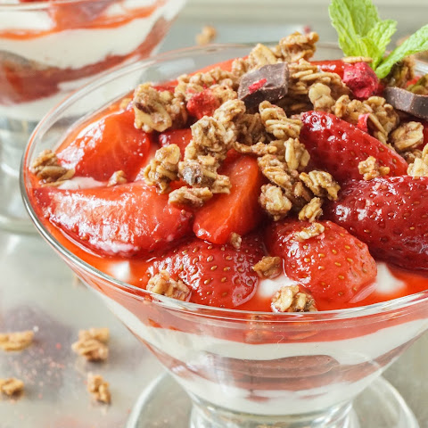 Roasted Strawberry Parfaits