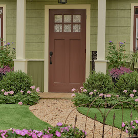 Front Entry  by Lorraine D.  Heaney - Buildings & Architecture Homes