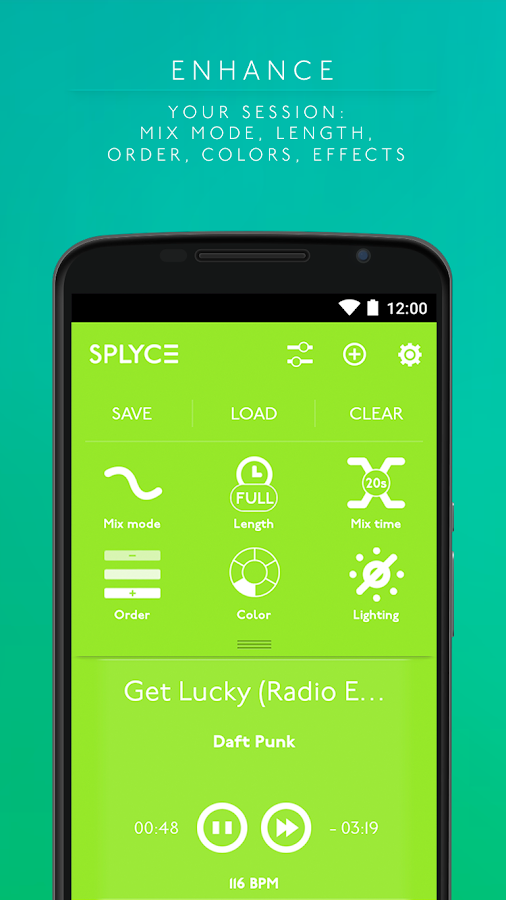 Splyce music player & automix Screenshot 2