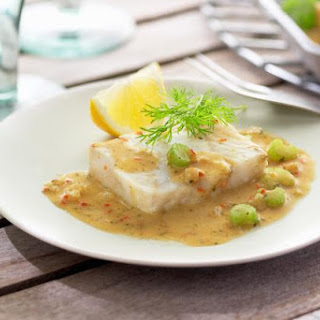 Baked Fish Fillets with Mustard Butter