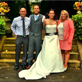 bride groom and brides parents by Nic Scott - Wedding Groups ( brides parents, wedding, bride and groom, bride, groom )