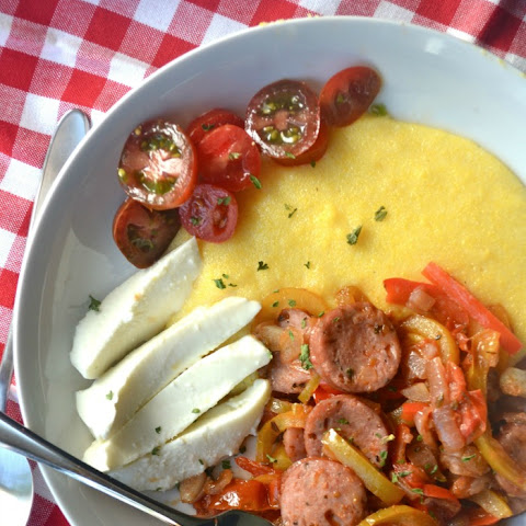 Sausage and Peppers Polenta Bowls