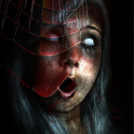horror by Kathleen Devai - Digital Art People ( scream, gothic, dark, horror, halloween, fear )