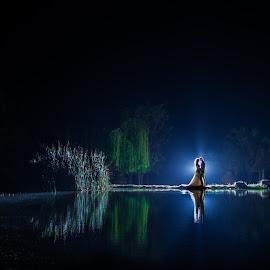 Lake by Lodewyk W Goosen (LWG Photo) - Wedding Bride & Groom ( wedding photography, wedding photographers, wedding day, weddings, wedding, lakes, lake, wedding photographer, bride and groom, bride, groom, people, bride groom )