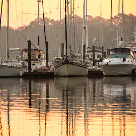 Early Morning Fog by Keith Wood - Transportation Boats ( kewphoto, fog, boats, morning, keith wood )