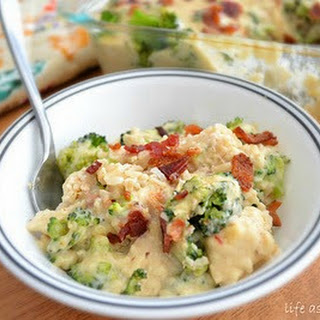 Cheesy Chicken, Bacon and Broccoli Rice Casserole