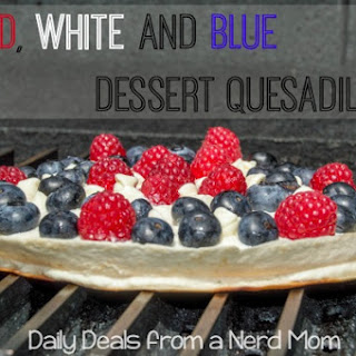 Red, White and Blue Dessert Quesadilla