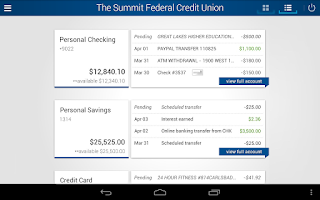 Screenshot of The Summit FCU