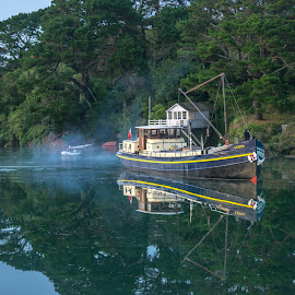 Cruising  by Jolyon Vincent - Transportation Boats ( water, reflection, landscape, boat )