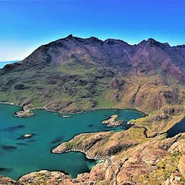 by Phil Bear - Landscapes Mountains & Hills ( coast, mountains, sgnurr na stri, isle of skye, uk, beach, lake, scotland )