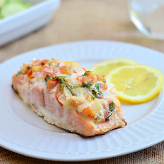 Salmon with Salsa-Mayo Topping