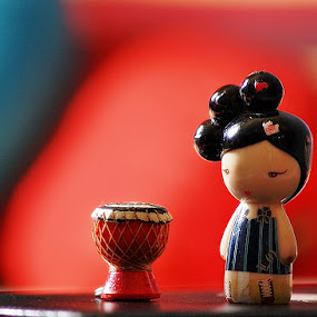 Main Gendang by Asirah Abrah - Artistic Objects Other Objects ( creation, red, creative, blue, art, toys, artistic, object, create )