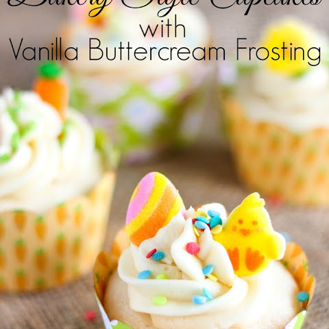 Bakery Style Cupcakes with Vanilla Buttercream Frosting
